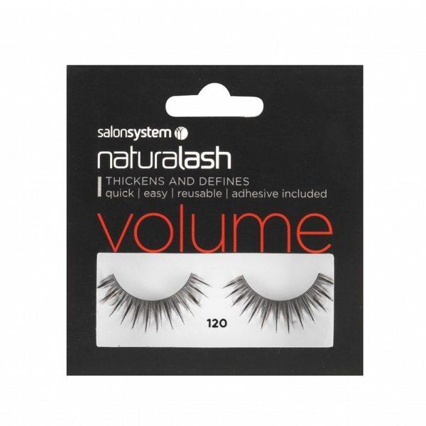 Salon System Naturalash Strip Eyelashes 120 Black
