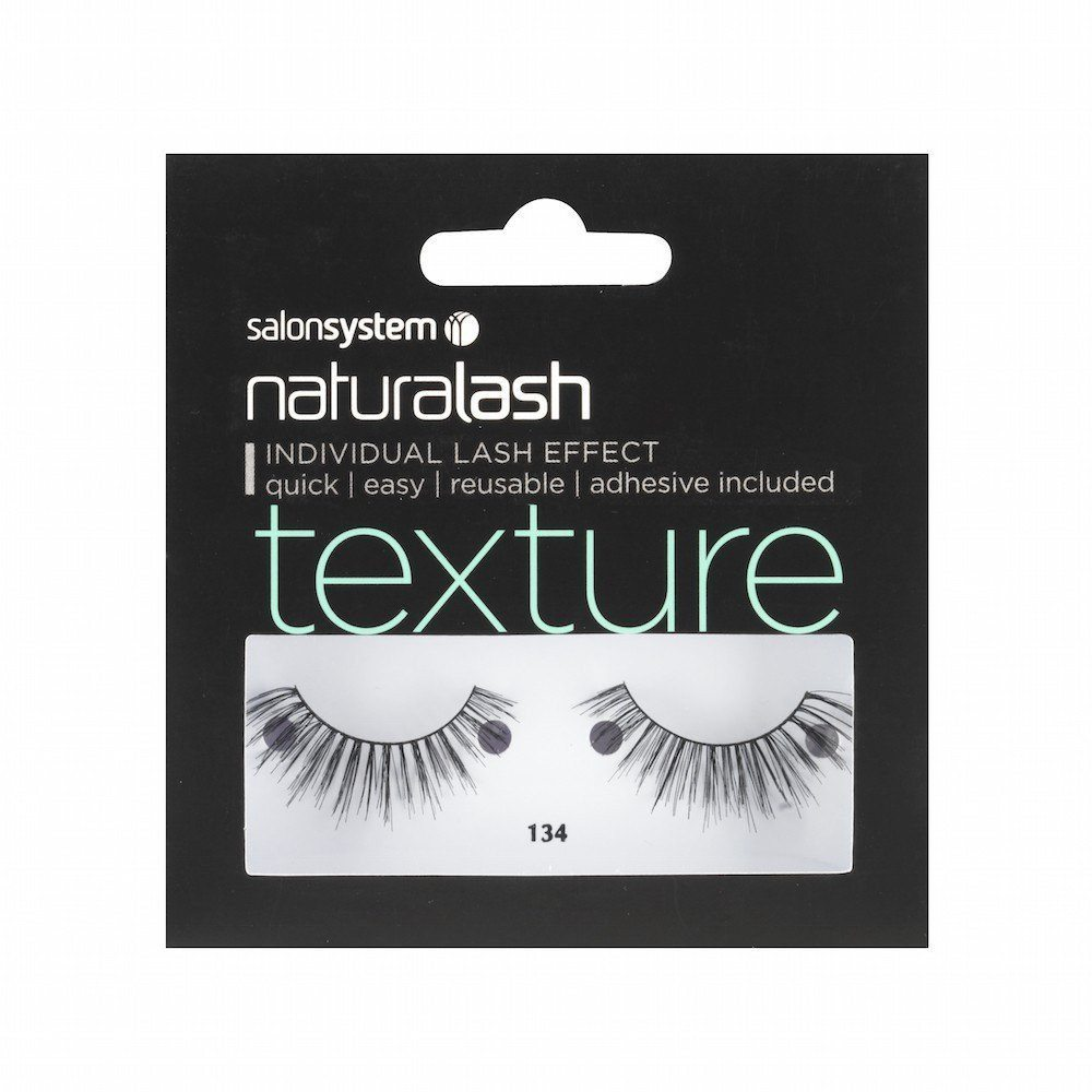 Salon System Naturalash Strip Eyelashes 134 Black Texture