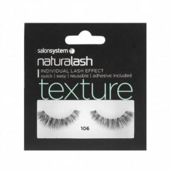 Salon System Naturalash Strip Eyelashes 106 Black Texture
