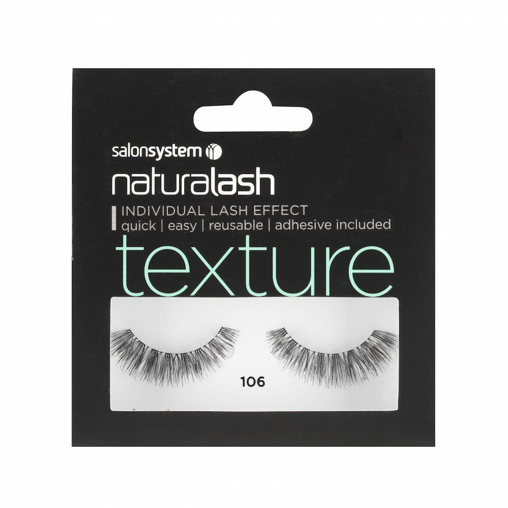 Salon System Naturalash Strip Eyelashes 106 Black Texture