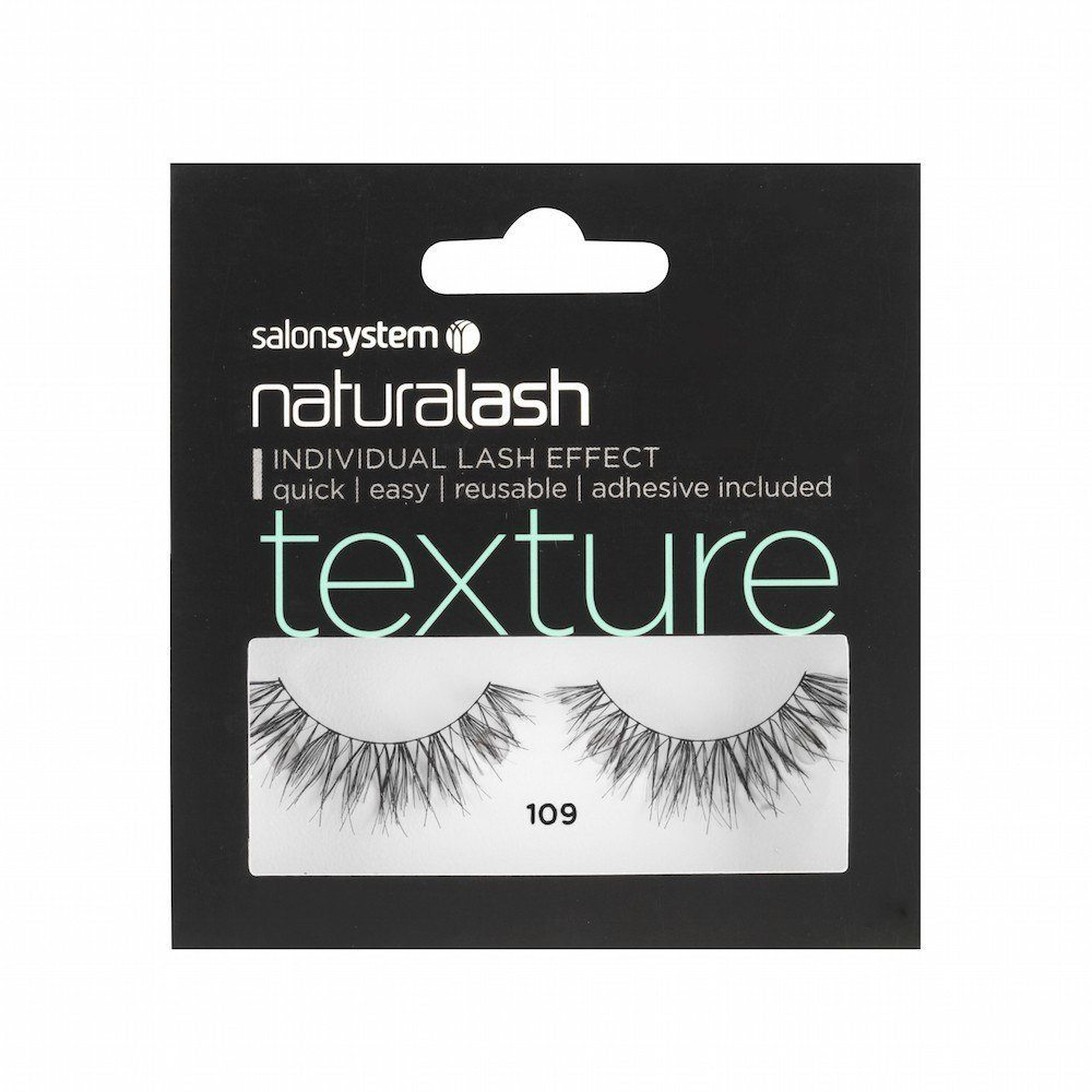 Salon System Naturalash Strip Eyelashes 109 Black Texture