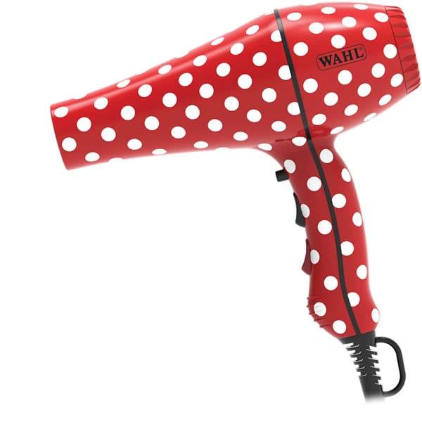 Wahl 2000w Hair Dryer Red Polka Dots