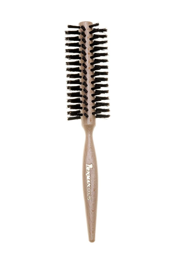 Denman D32M Medium Curling Brush 19mm with Wooden Handle Mixed Bristle