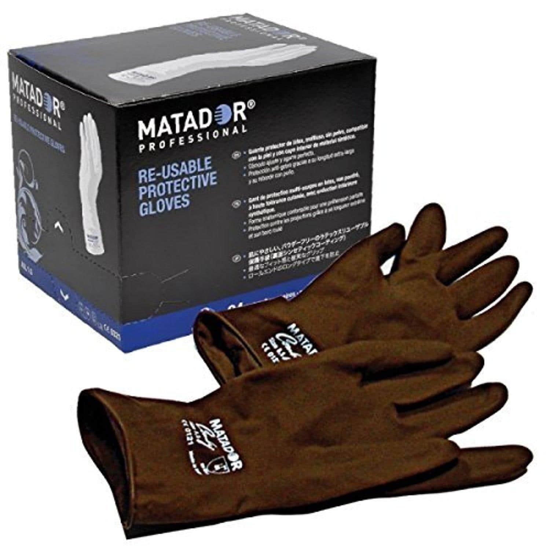 MATADOR REUSABLE POWDER FREE PROTECTIVE LATEX GLOVES 1 PAIR - BROWN