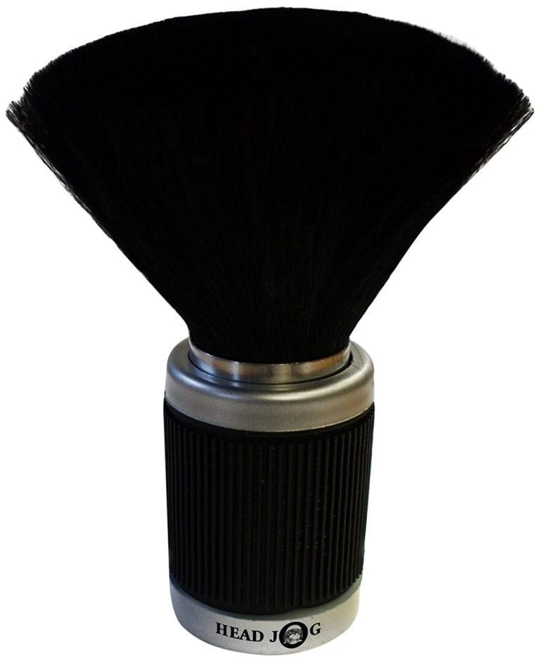 Head Jog Black Rubber Grip Neck Brush