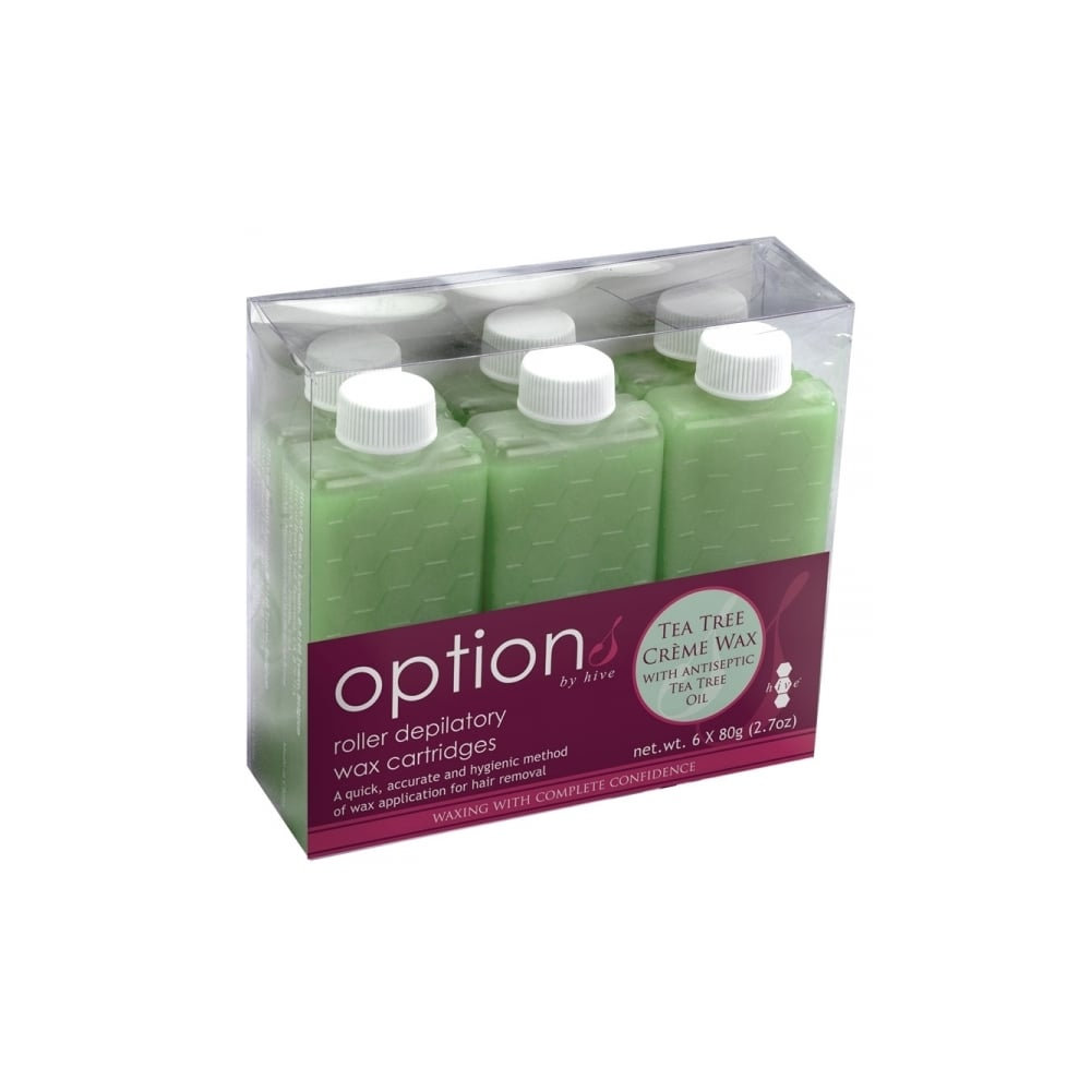 Options By Hive Tea Tree Creme Wax Roller Cartridges 80g (Pack of 6)