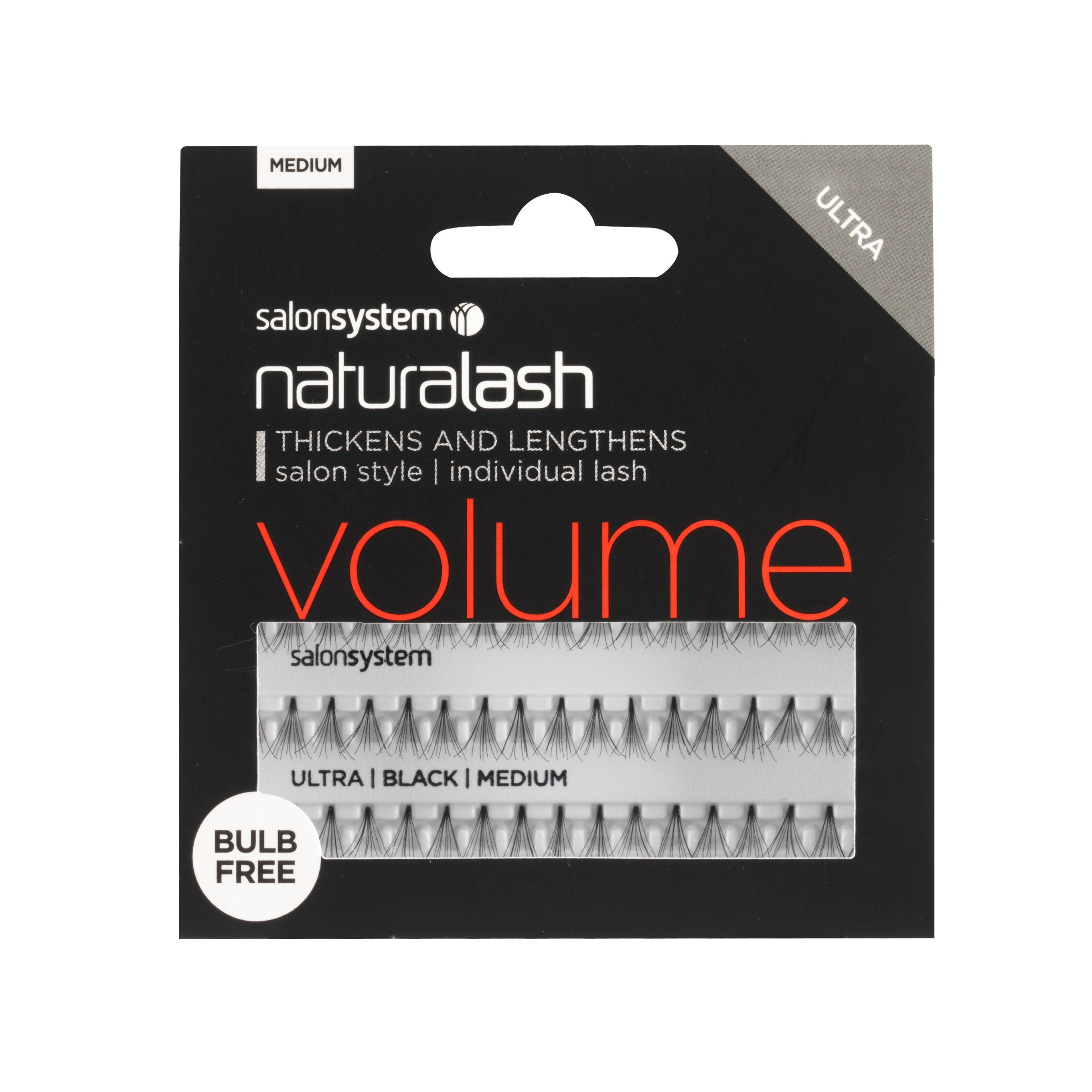 Salon System Naturalash Individual Lash VOLUME Black Mini