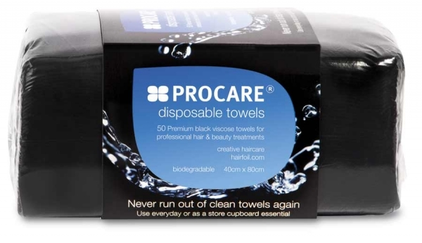 Procare Disposable Towels Black 50 Pack