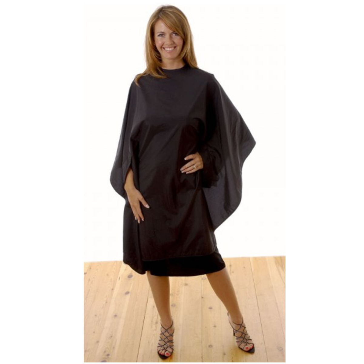Hairtools Sleeved Gown Black Poppers