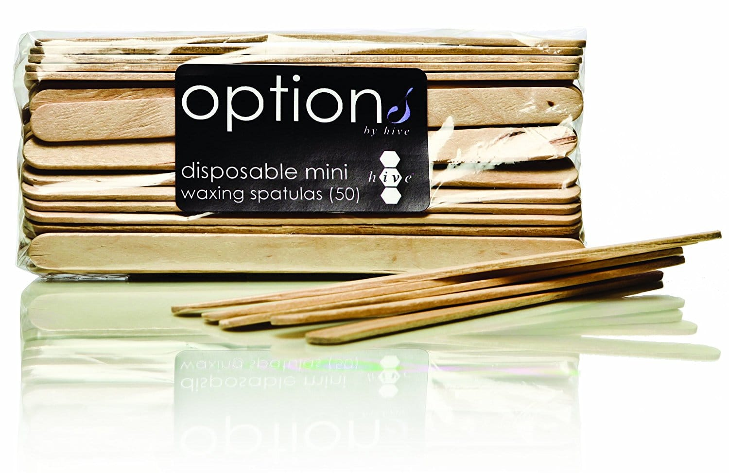 Hive Options Mini Disposable Waxing Spatulas (Pack of 100)