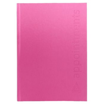Agenda Appointment Book 6 Colomn Hot Pink
