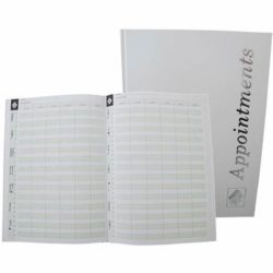 Agenda Appointment Book 6 Colomn White