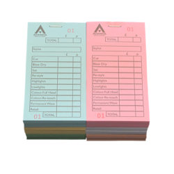 Agenda Hairdressing Numbered Checkpads Assorted (12x100)