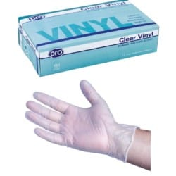 Agenda Pro Vinyl Powder Free Disposable Gloves (100) Small