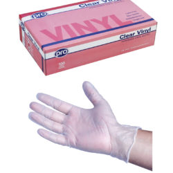 Agenda Pro Vinyl Powdered Disposable Gloves (100) Medium