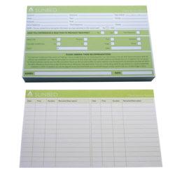 Agenda Record Cards Sunbed (100)