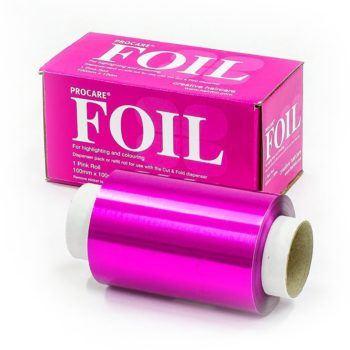 Procare Pink Foil Roll 100mm X 100m