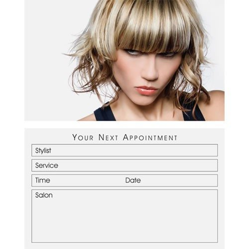 Agenda Salon Beauty Appointment Cards x 100 - Blonde
