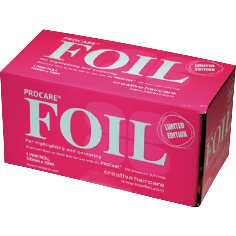 Procare Aluminium Foil 100mm X 100m - Pink