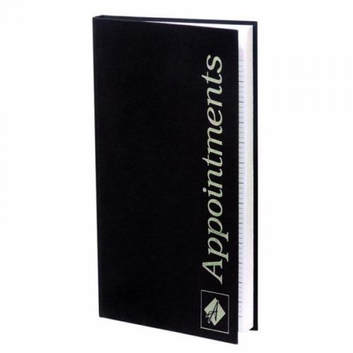 Agenda Appointment Book 3 Colomn Black