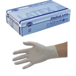 Agenda Pro Medical Latex Powder Free Disposable Gloves (100) Large