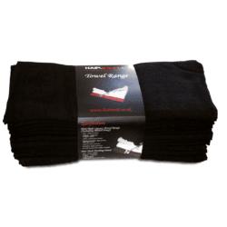 Hair Tools Luxury Black Bleach Proof Towels (12 Pack)