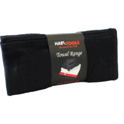 HairTools Black Bleach Proof Towels 12 Pack