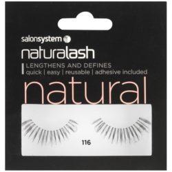 Salon System Naturalash Strip Eyelashes 116 Black