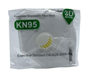 KN95 -RESPIRATOR FFP2 (VALVED) SINGLE PIECE