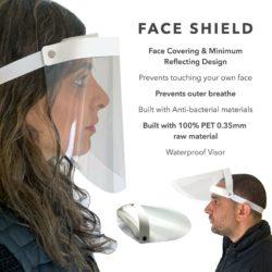 SPLASH VISOR CLEAR FACE SHIELDS