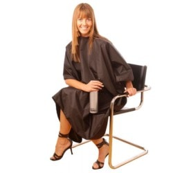 Hair Tools Tint Proof Gown Standard Size - Black