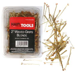 "Hair Tools 2"" Triple Wave Grips Blonde (Box of 500)"